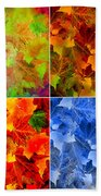 Four Seasons In Abstract Bath Towel