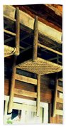 Four Wooden Chairs Bath Towel