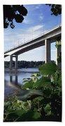 Foyle Bridge, Derry City, Co Bath Towel