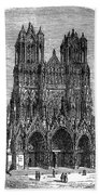 France: Reims Cathedral Bath Towel