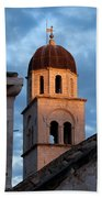 Franciscan Monastery Tower At Sunset Bath Towel