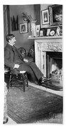 Frank Harris (1854-1931). American Writer Born In Galway, Ireland Bath Towel