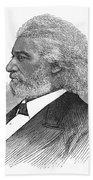 Frederick Douglass (c1817-1895). American Abolitionist. Wood Engraving, American, 1877 Bath Towel