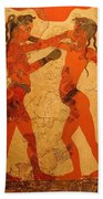 Fresco Of Boxing Children Bath Towel