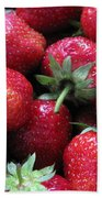 Fresh Strawberries Bath Towel