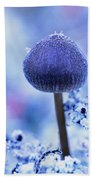 Frost Covered Mushroom, North Canol Bath Towel