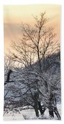 Frozen Trees Bath Towel