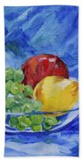 Fruit On Blue Bath Towel