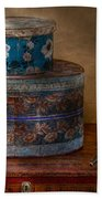 Furniture - Hat Boxes With Billow Bath Towel
