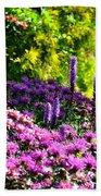 Garden Flowers 3 Bath Towel