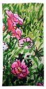 Garden Flowers Sketchbook Project Down My Street Bath Towel