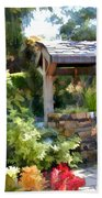 Garden Wishing Well Bath Towel