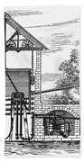 Gas Works, 1815 Bath Towel