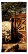 Gate To Cowboy Heaven In Old Tuscon Az Bath Towel