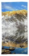 Geissler Mountain In Linkins Lake Bath Towel