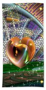 Geo Hearts Bath Towel
