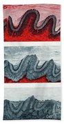 Geologic Crumpling Bath Towel