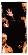 George Jones Concert Collage Bath Towel