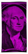 George Washington In Purple Bath Towel