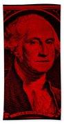 George Washington In Red Bath Towel