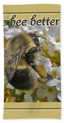 Get Well Card - Bumblebee Bath Towel