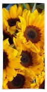 Giant Sunflowers For Sale In The Swiss City Of Lucerne Bath Towel