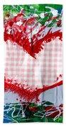 Gingham Crazy Heart Hand Towel