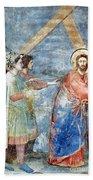 Giotto: Road To Calvary Bath Towel