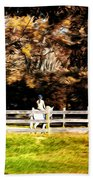 Girl Riding Horse Bath Towel
