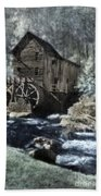 Glade Creek Mill In Infrared. Bath Towel