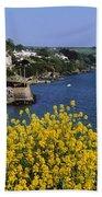 Glandore Village & Harbour, Co Cork Bath Towel