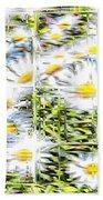 Glass Flowers Bath Towel