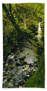 Glenariff, Co Antrim, Ireland Waterfall Bath Towel