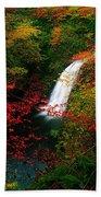 Glenoe Waterfall And Glen, Co Antrim Bath Towel