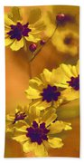 Golden Coreopsis Wildflowers  Bath Towel