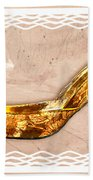 Golden Floral Royalty Shoe Bath Towel