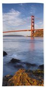 Golden Gate At Dawn Bath Towel