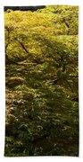 Golden Japanese Maple Bath Towel