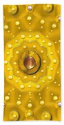Golden Mandala With Pearls Bath Towel