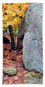 Golden Oak Through Boulders At Elephant Rocks State Park Bath Towel