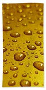 Golden Water Drops. Business Card. Invitation Etc. Bath Towel