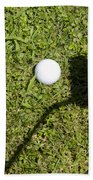 Golf Ball And Shadow Bath Towel