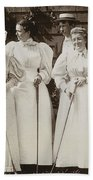 Golfing Party, C1895 Bath Towel