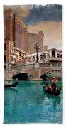 Gondolas On The Canal - Impressions Bath Towel