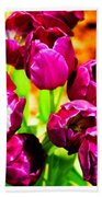 Gorgeous Tulips Bath Towel
