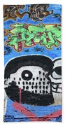 Graffiti Provence France Bath Towel