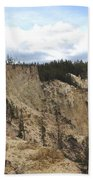 Grand Canyon Cliff In Yellowstone Bath Towel