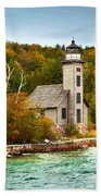 Grand Island Lighthouse No.1442 Bath Towel