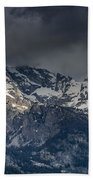 Grand Tetons Immersed In Clouds Bath Towel