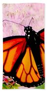 Graphic Monarch Bath Towel